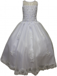 GIRLS COMMUNION DRESSES (0515705) WHITE