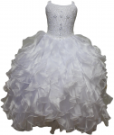 GIRLS COMMUNION DRESSES W/ BEADS