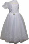 GIRLS COMMUNION DRESSE W/ JACKET