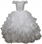 GIRLS RUFFLE COMMUNION DRESSES