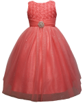 GIRLS CASUAL DRESSES  (0515716) CORAL