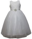 GIRLS CASUAL DRESSES  (0515716) WHT