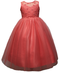GIRLS CASUAL DRESSES  (0515720) CORAL