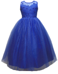 GIRLS CASUAL DRESSES  (0515720) ROYAL BLUE
