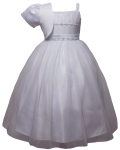 GIRLS CASUAL DRESSES  (0515724) WHITE