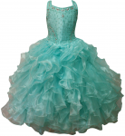 GIRLS RUFFLE DRESSES (MINT) 0515726