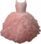 GIRLS RUFFLE DRESSES (PINK) 0515726