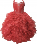 GIRLS RUFFLE DRESSES (RED) 0515726