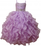 GIRLS RUFFLE DRESSES (LILAC) 0515740