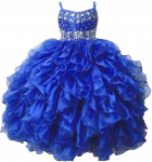 GIRLS RUFFLE DRESSES (R.BLUE) 0515740