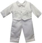 BOYS CHRISTENING W/ VIRGIN ON VEST