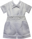 BOYS CRHISTENING JUMPER SUIT W/ SHORT SLEEVE