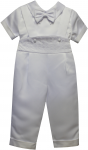BOYS CHRISTENING SHORT SLEEVE JUMPER SUIT