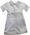 BOYS CHRISTENING SHORT PANTS JUMPER SUITS
