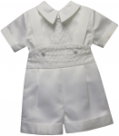 BOYS CHRISTENING SHORT PANTS JUMPER SUIT