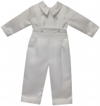 BOYS CRHISTENING JUMPER SUIT W/ LONG TIE