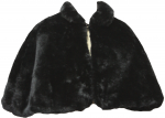 GIRLS FUR CAPES (BLACK)