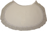 GIRLS PLAIN BIBS W/LACE (0565609) WHITE