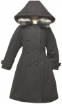 Girls Dressy Coat-(Black, Dark/Navy)