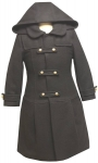 Girl Military Coat ( Black)