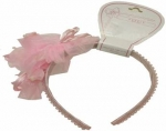 Head Band w/ Two Rose Flowers 0666002-Pink