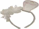 Head Band w/ Two Rose Flowers 0666002-White