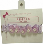 Baby Head Band w/ Elastic and Bows-Lilac