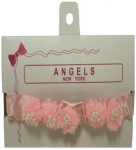 Baby Head Band w/ Elastic and Bows-Pink