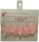 Baby Head Band w/ Elastic and Bows 0666009-Pink