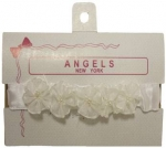 Baby Head Band w/ Elastic and Bows 0666009-White