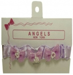 Baby Head Band w/ Elastic and Bows 0666018-Lilac