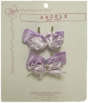 Two Clip on Hair Ribbons 0666027-Lilac