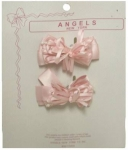 Two Clip on Hair Ribbons 0666027-Pink