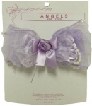 Single Clip on, Bow w/ Organza 0666049-Lilac