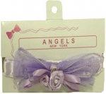 Hair Bow w/ Elastic 0666059-Lilac