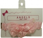 Hair Bow w/ Elastic 0666059-Pink