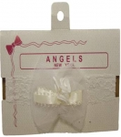 Baby Head Band w/ Elastic and Bows 066607-White
