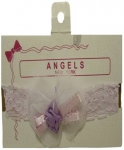 Baby Head Band w/ Elastic and Bows 0666607-Lilac