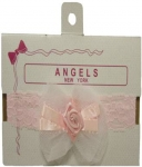 Baby Head Band w/ Elastic and Bows 0666607-Pink