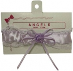 Baby Head Band w/ Elastic Satin and Bow 0666608-Lilac