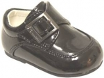 Boys Dressy Shoe w/ Velcro Buckle-BlackPat