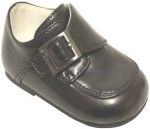 Boys Dressy Shoe w/ Velcro Buckle-BlackSmooth