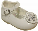 Girls Dressy Shoe w/ Rhinestones Flower