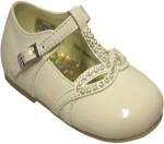 Girls Dressy Shoe w/ Fancy Rhinestones-BonePat