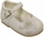 Girls Dressy Shoe w/ Flower Design