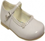 Girls Dressy Shoe w/ Rhinestones on Top