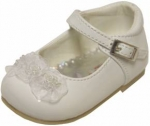 Girls Dressy shoe w/ Double Flowers