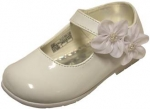 Dress Shoe w/ Double Flower on Velcro Buckle