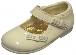 Velcro Buckle Dress Shoe w/ Rhinestone Bow in Front