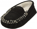 Moccasin Suede Leather Shoe-Black Suede